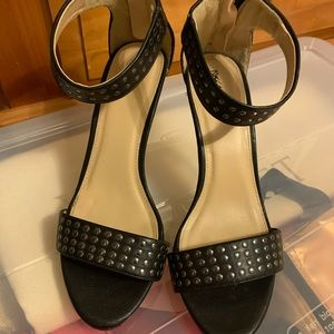 Mossimo strap black with silver stud point heels